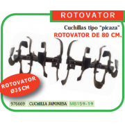 ROTOVATOR DE 80 CM (CUCHILLAS TIPO PICAZA) PARA MOTOAZADA REF 976669