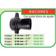 """RACOR DE PLASTICO PARA MOTOBOMBA 25 MM DE DIAMETRO 3/4"""""""