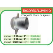 RACOR DE ALUMINIO PARA MOTOBOMBA 50 MM DE DIAMETRO