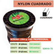 NYLON CUADRADO (BOBINA 1350g) USO PROFESIONAL