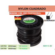 NYLON CUADRADO (BOBINA DE 1 KG) USO PROFESIONAL