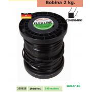 BOBINA DE NYLON 2 KG CUADRADO 4,0 MM