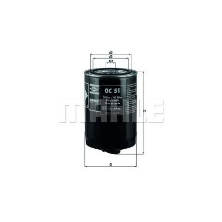 Filtro de aceite KNECHT FILTER : OC51 para Audi, Rover, Seat, Volkswagen y Volvo