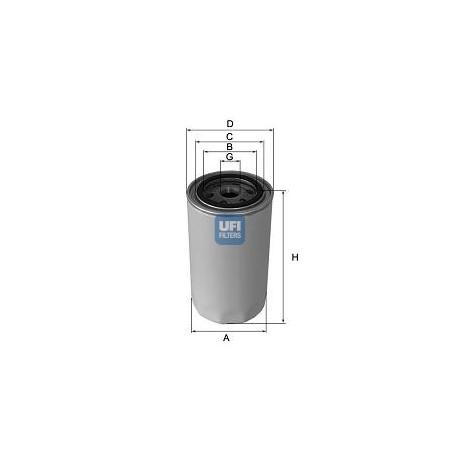 Filtro de aceite UFI FILTERS SPA : 23.440.00 para Chrysler y Ford