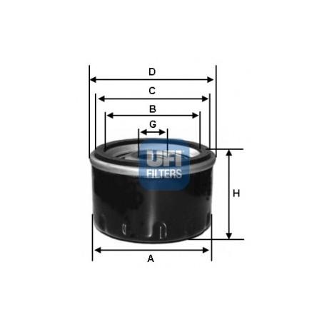 Filtro de aceite UFI FILTERS SPA : 23.177.00 para Jeep y Renault