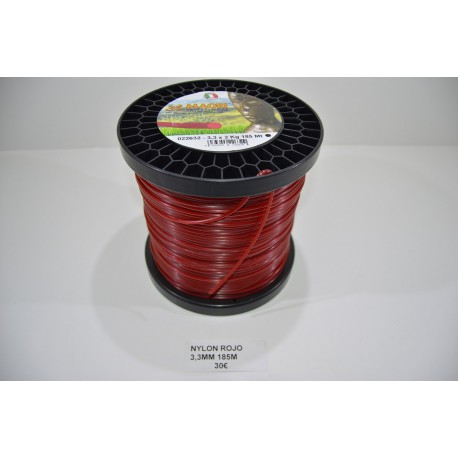 NYLON ROJO 3,3 MM 185 M