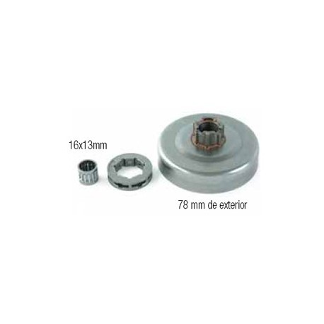 CAMPANAS DE EMBRAGUE (compatible con Husqvarna/Jonsered) 12 18007 61/266/268/272 (Piñón Recambiable). 3/8x7. Jonsered: 625/670