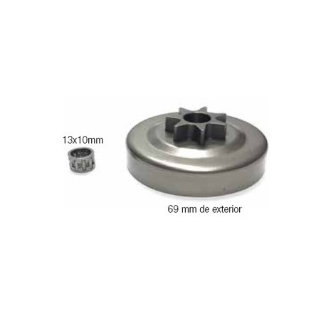 CAMPANAS DE EMBRAGUE (compatible con Stihl) 12 18021 024/026/MS240/MS260/MS270. 325x7