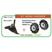 SET RUEDAS Y APORCADOR PARA MOTOAZADA REF 976400