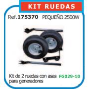 KIT RUEDAS PARA GENERADOR PEQUEÑO REF 175370