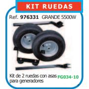 KIT RUEDAS PARA GENERADOR GRANDE REF 976331