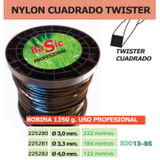 NYLON CUADRADO TWISTER (BOBINA DE 1350G) USO PROFESIONAL