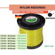 NYLON REDONDO (BOBINA DE UN KG) USO PREOFESIONAL