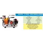 GRUPO DE PULVERIZACION 2 TIEMPOS CON ENROLLADOR TF 600 RE