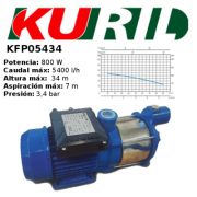 ELECTROBOMBA DE SUPERFICIE/AUTOCEBANTE KURIL KFP05434 PARA AGUAS LIMPIAS
