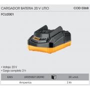 CARGADOR DE BATERIA INGCO 20V LITIO FCLI2001