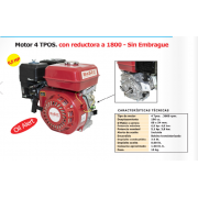 MOTOR BASIC 4T. C/REDUCTORA 1800-S/EMBRAGUE OS-168R