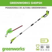 Podadora de altura Greenworks G40PSH