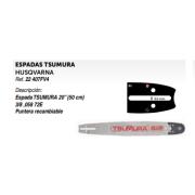 """ESPADAS TSUMURA HUSQVARNA Ref. 22 407FV4 Descripción: Espada TSUMURA 20"""" (50 cm) 3/8 ,058 72E Puntera recambiable"""
