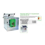 PASTOR ELECTRICO Pastormatic 1000 12V con caja galvanizada y panel solar 8w 12V
