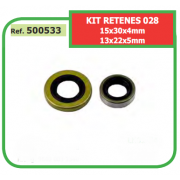 KIT RETENES ADAPTABLES ST MS- 028 15x30x4mm 13x22x5mm 500533