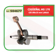 CIGÜEÑAL ADAPTABLE ST MS 170 EJE Ø8x10 mm LARGO 504677