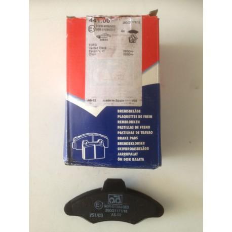 Pastillas de freno AD - 441.00 para Ford: Escort y Orion