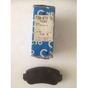 Pastilla de freno NECTO FDB-673 para: Talbot Solara