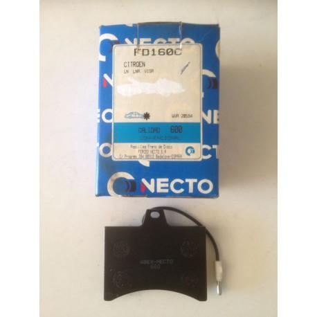 Pastillas de freno NECTO FD-160 para: Citroen LN - LNA - Visa