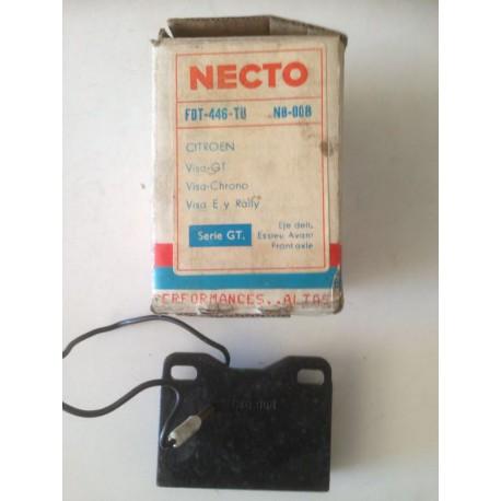 Pastillas de freno NECTO FDT - 446 - TU para: Citroen Visa
