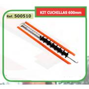 KIT CUCHILLAS 600mm ADAPTABLES cortasetos STH Modelos HS81 - HS86R 500510